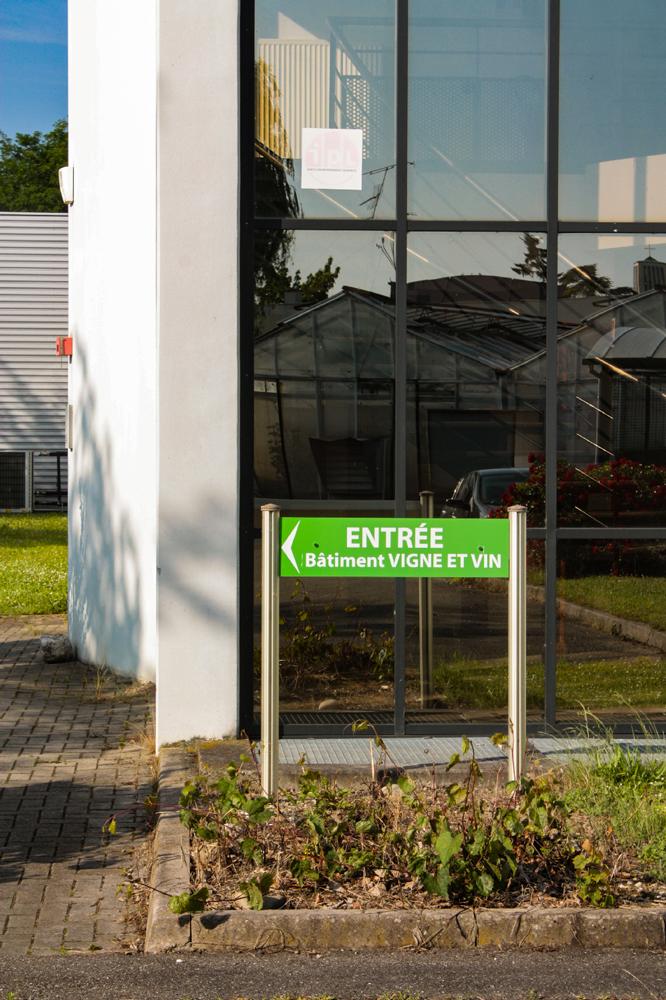 Bi-mat de signalétique directionnelle - EURHODE impression grand format Colmar