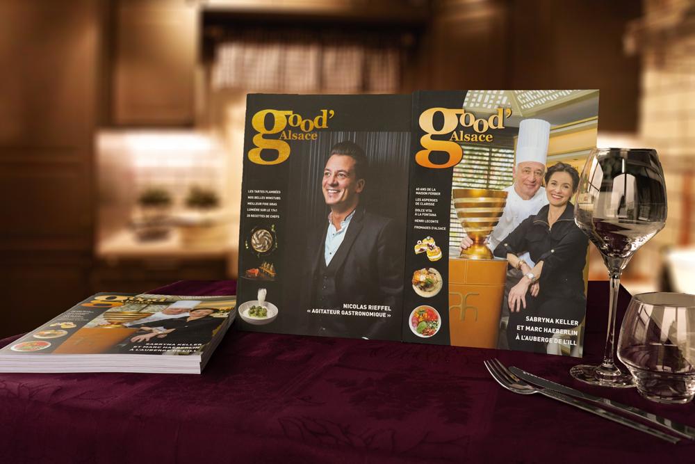 Création graphique, mise en page et impression de magazine gastronomique - EURHODE communication Colmar