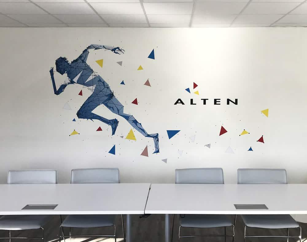Décoration murale personnalisée - réalisation et pose EURHODE Mulhouse