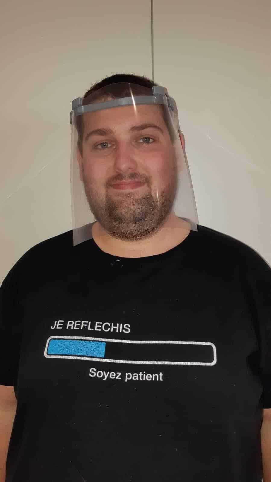 Support réalisé sur imprimante 3D par Gaetan - transparent fourni par EURHODE Colmar