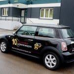 Marquage de véhicule en lettres adhésives - EURHODE signalétique Colmar