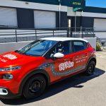 Marquage de véhicule rouge auto école BFM68 à Colmar